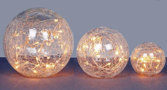 Crackle Light Ball – Set Of Three