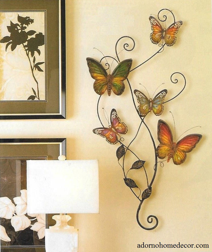 Metal Butterfly And Dragonfly Wall Decor