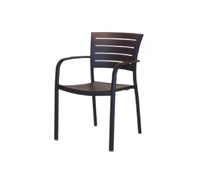 Ratana – Bianca Stacking Arm Chair – Aluminum