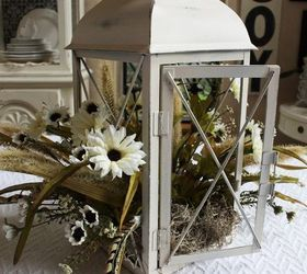 fall lantern centerpiece, crafts, home decor, repurposing upcycling, seasonal holiday decor