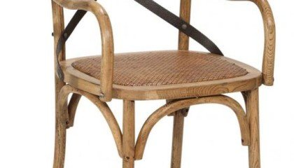 Reva Cross Back Dining Arm Chair