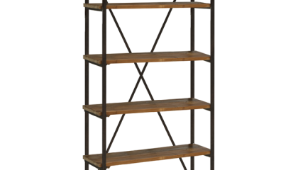 Russel Bookcase Etagere With Six Open Shelves