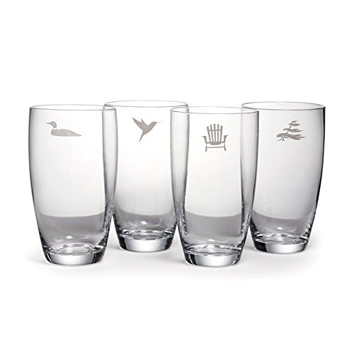 Abbott – Set of 4 Highball Glasses with Cottage Icons